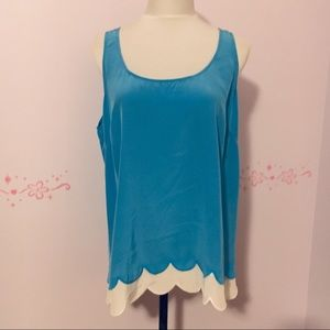 """Lilly Pulitzer """"Carlina"""" Top in Flutter Blue"""